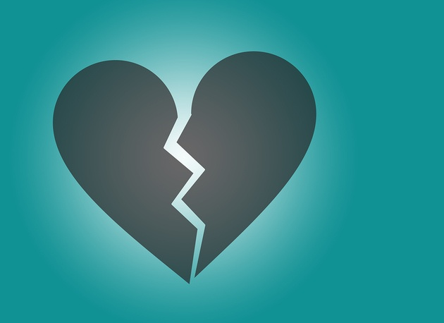 Knust hjerte symbol